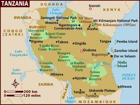 Tanzania, copyright Lonely Planet.