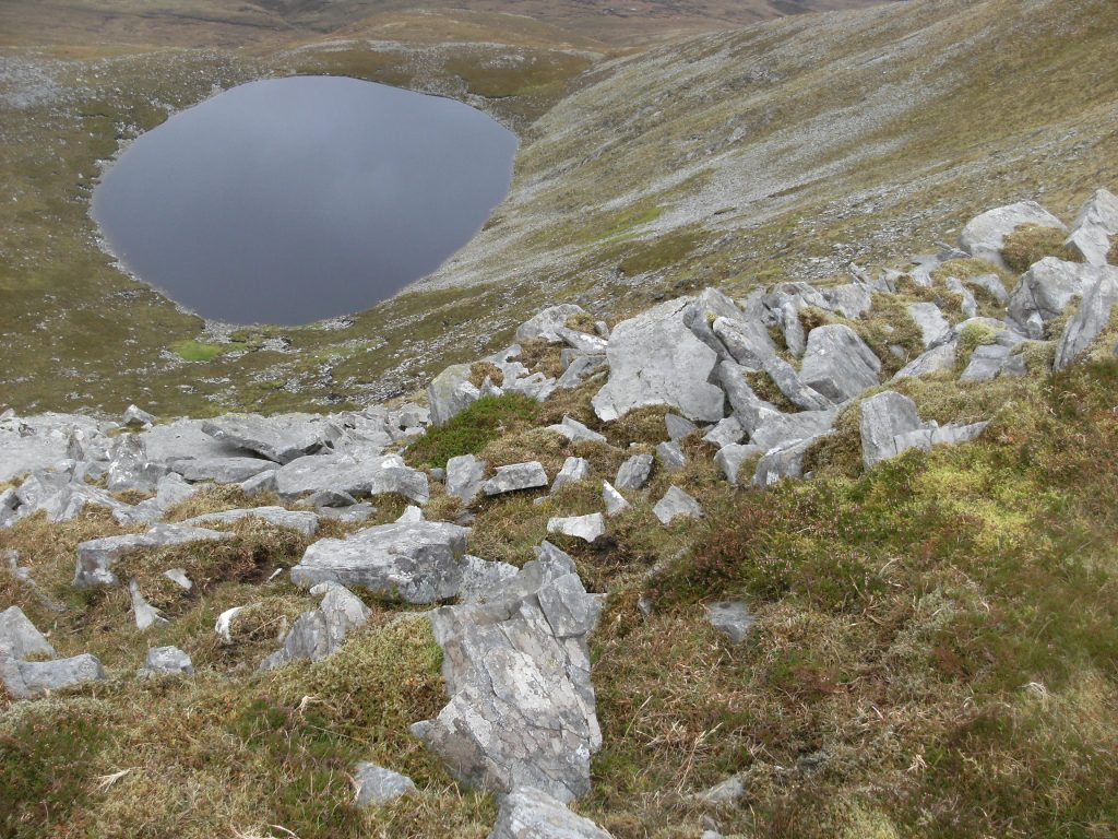 Slieve Carr corrie lake