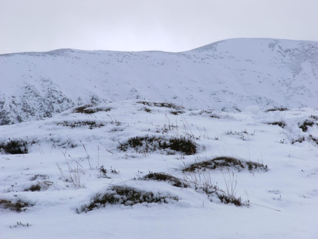 Winter hiking on Nephin