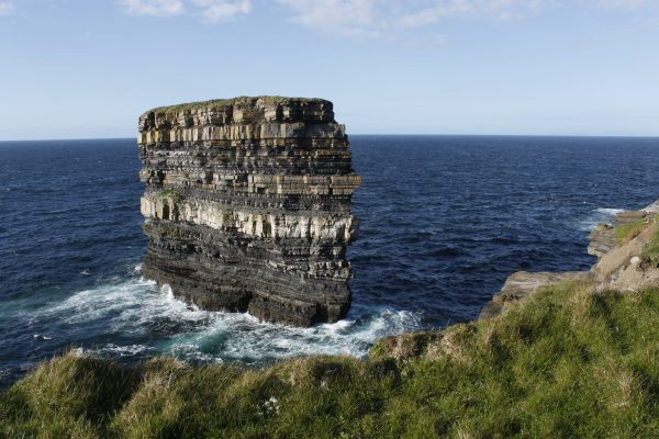 coastline of county mayo downpatrick head