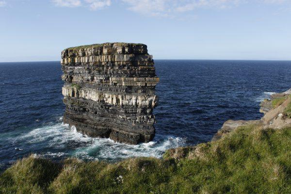coastline of county mayo downpatrick head